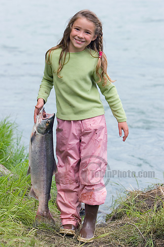 Girl Holding Fish